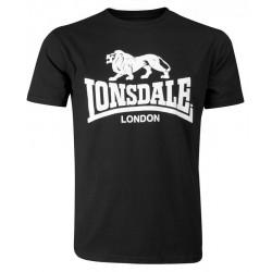 LONSDALE LOGO tričko čierne