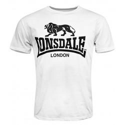 LONSDALE LOGO tričko biele