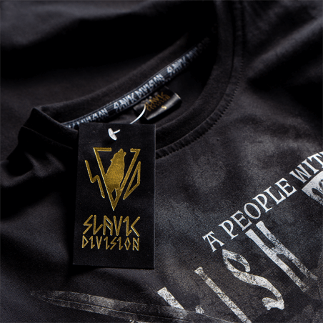 THREE STROKE NO FEAR tričko čierne