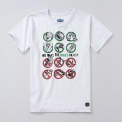 PGWEAR OUR RULES tričko biele