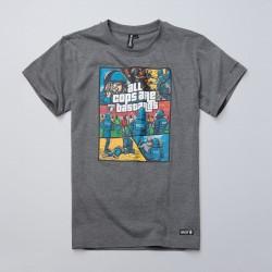 PGWEAR BASTARDS tričko šedé