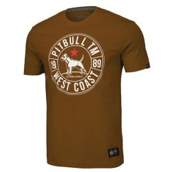 PIT BULL CALIDOG tričko hnedé