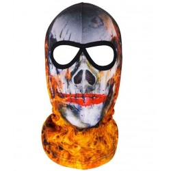 OCTAGON SKULL IN FIRE kukla...