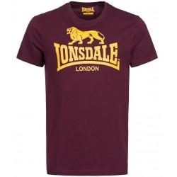 LONSDALE LOGO tričko bordové
