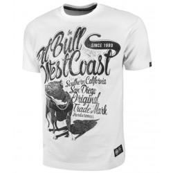 PIT BULL DOGGY tričko biele