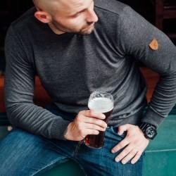 PGWEAR Grand sveter šedý