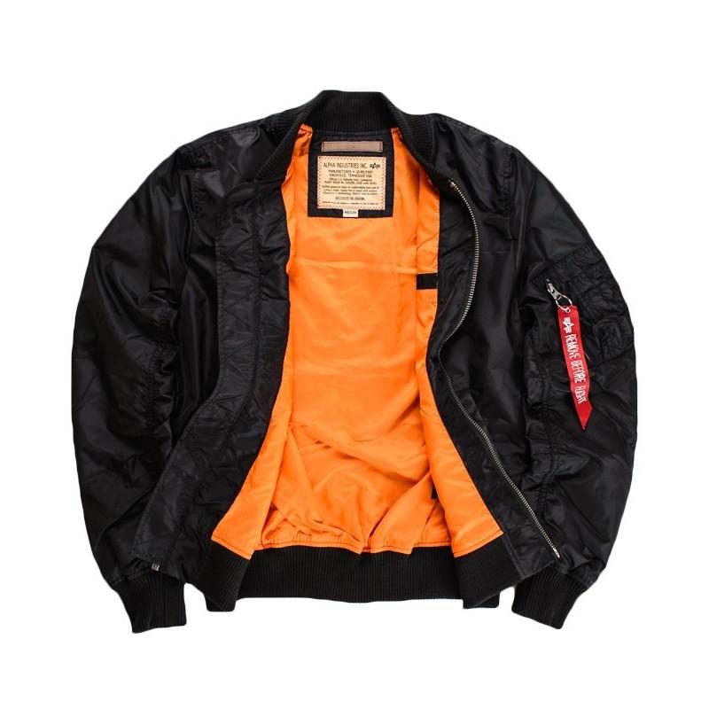 17d2111a5 Ľahká verzia klasickej bundy MA-1, ideálna na prvé jesenné mrazy. Vďaka  nylonu je bunda pohodlná, priedušná a nepremokavá.